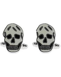 Alexander McQueen Skull Cufflinks - White