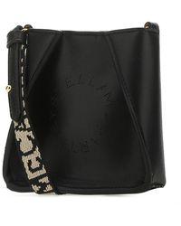 Stella McCartney Logo Micro Crossbody Bag - Black