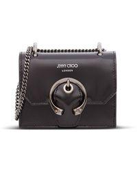 Jimmy Choo Paris Logo Mini Crossbody Bag - Black
