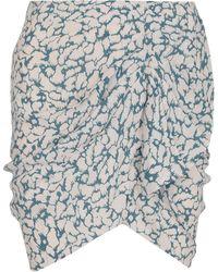 Étoile Isabel Marant Asymmetric Mini Skirt - Blue
