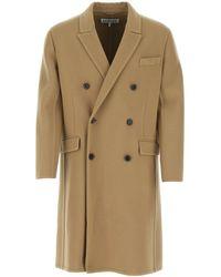 Loewe Double-breasted Coat - Brown