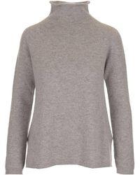 Max Mara High-neck Knit Jumper - Grey