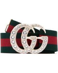 Gucci GG Buckle Embellished Belt - Multicolor