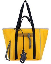 Moncler Genius Moncler X Jw Anderson Logo Charm Tote Bag - Yellow