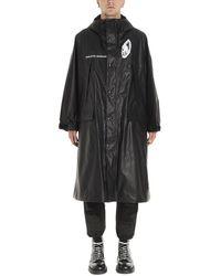 Undercover Printed Raincoat - Black