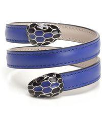 BVLGARI - Serpenti Forever Metallic-leather Wrap Bracelet - Lyst