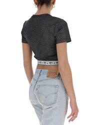 Chiara Ferragni Logomania Glitter Cropped Top - Black