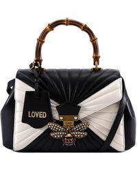 Gucci Queen Margaret Top Handle Tote Bag - Black