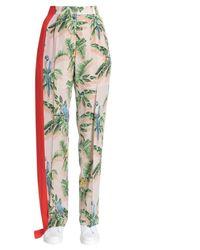 Stella McCartney Tropical Print Trousers - Green