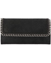 Stella McCartney Falabella Continental Wallet - Black