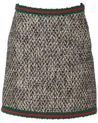 Gucci Tweed Skirt - Black