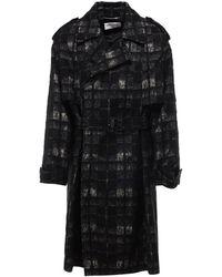 Saint Laurent Double-breasted Coat - Black