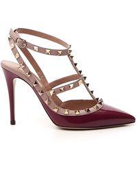 Valentino Garavani Rockstud Slingback Court Shoes - Red