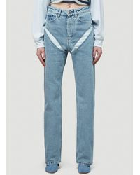 Y. Project Cut-out Effect Jeans - Blue