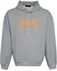 MCM Logo Detail Cotton Sweatshirt - Grey