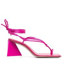 The Attico Thong-strap Self-tie Sandals - Pink