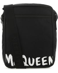 Alexander McQueen Urban Bag With Graffiti Logo - Black