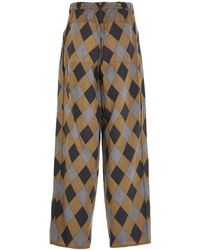 Undercover Uc1a45042beigebase Colour Other Materials Trousers - Multicolour