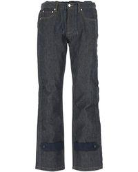 A.P.C. X Sacai Drawstring Waist Jeans - Blue