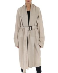 Rick Owens Belted Mountain Coat - Natural