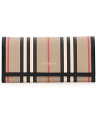 Burberry Icon Striped Continental Wallet - Brown