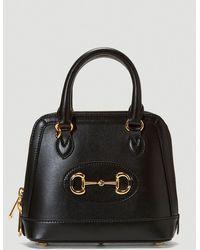 Gucci Horsebit 1955 Mini Top Handle Bag - Black