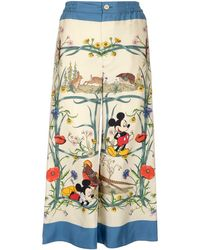 Gucci X Disney Mickey Mouse Printed Pajama Pants - Multicolor