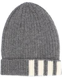 Thom Browne 4-bar Knitted Beanie - Grey