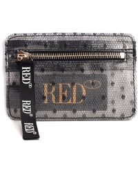 RED Valentino Redvalentino Sheer Polka-dot Print Wallet - Black