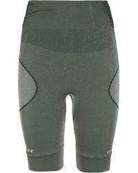 Off-White c/o Virgil Abloh Athl Logo Print Shorts - Green
