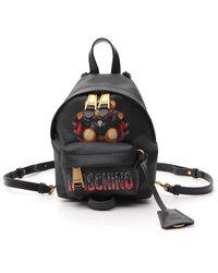 Moschino Bat Teddy Bear Mini Backpack - Black
