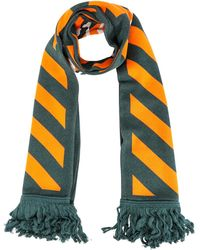 Off-White c/o Virgil Abloh Diagonal Fringed Scarf - Green