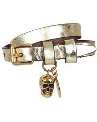 Alexander McQueen Double Wrap Bracelet - Metallic