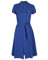 Polo Ralph Lauren - Logo Embroidery Shirt Dress - Lyst