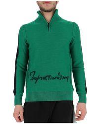 Off-White c/o Virgil Abloh Zip Turtleneck Sweater - Green