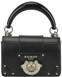 Balmain Logo Studded Crossbody Bag