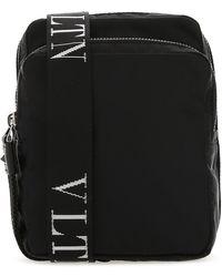 Valentino Vltn Strap Messenger Bag - Black