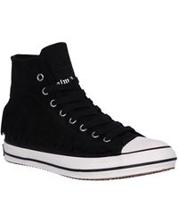 Palm Angels Fringed High Top Sneakers - Black