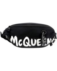 Alexander McQueen Graffiti Fanny Pack - Black