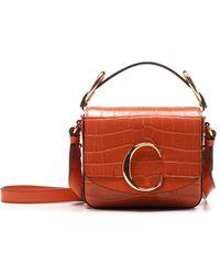 Chloé C Mini Crossbody Bag - Orange