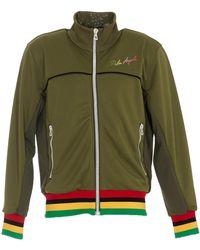 Palm Angels Exodus Logo Embroidered Track Jacket - Green