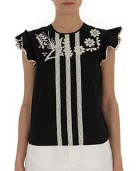 RED Valentino - Embroidered Top - Lyst