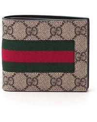 Gucci GG Supreme Web Bifold Wallet - Multicolor