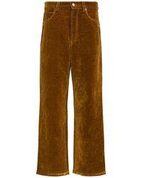 Jacquemus Wide Velour Pants - Brown