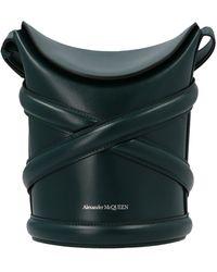 Alexander McQueen The Curve Bucket Bag - Green