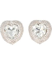 Alessandra Rich Heart Earrings - Metallic