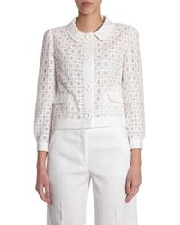 Boutique Moschino Sangallo Lace Blazer With Buttons - White