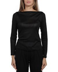 Ralph Lauren Boat-neck Long-sleeved Jumper - Black