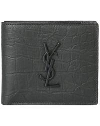 Saint Laurent Monogram Wallet - Black