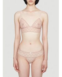 Gucci GG Embroidered Tulle Lingerie Set - Pink